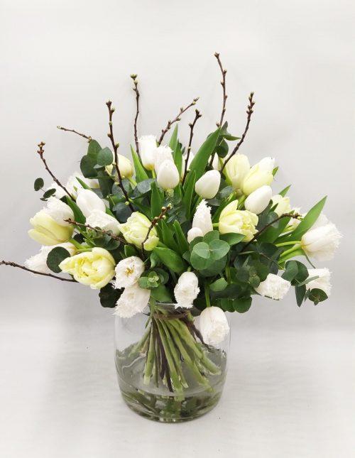 witte tulpen boeket