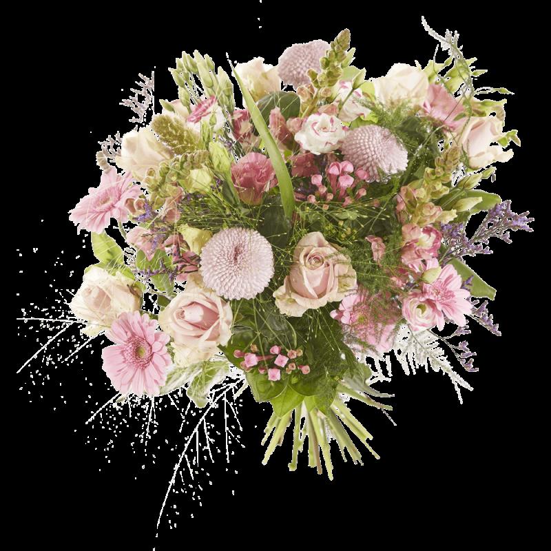 sympathieboeket roze